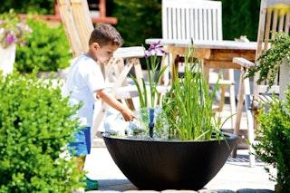 Heissner Wassergarten,55x55x30cm,rund,schwarz (015165-00)