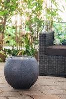 "Heissner Garden Fountain ""Ball LED"", black color, 50x50x43cm (016601-03)"