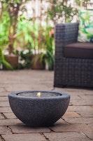 "Heissner Garden Fountain ""Half Ball LED"", black color, 50x50x25cm (016602-03)"