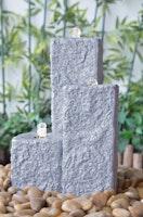 """Fountain-Set """"Neptun LED"""",  grey color, 59x43x15/25/40cm (016616-09)"""