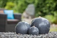 "Fountain-Set ""Saphira LED"", black color, 59x43x15/23/28cm (016617-03)"
