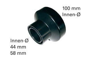 Metabo Absaugadapter für Stutzen Ø 100mm 44mm 58mm