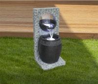 Gardenforma Wasserspiel Bahia, Polyresin inkl. Pumpe und LED-Beleuchtung