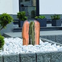 Gardenforma Wasserspiel Findling Red Cloud Marmor - Komplettset