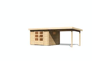 Karibu Woodfeeling Gartenhaus Trittau 3/4/5 inkl. 300 cm Anbaudach - 38 mm