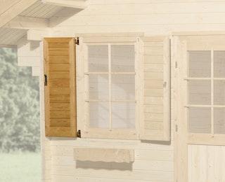 Weka Fensterladen 2- teilig für Weka Gartenhaus 149