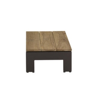 apple bee Sticks & More Kaffetisch 87 x 43 cm-Gestell Aluminium Taupe -  Top Teak coastal