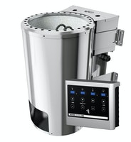 Karibu Plug & Play - Bio-Kombiofen 3,6 kW mit externer Steuerung Easy weiß