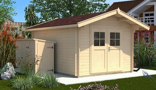 Weka 28 mm Gartenhaus Premium28 mit Vordach (60 cm)