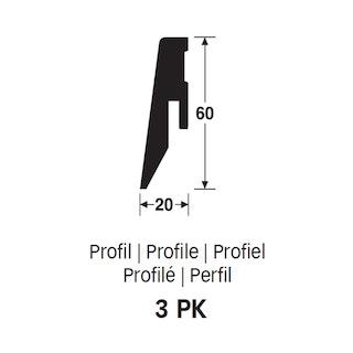 MeisterWerke Steckfußleiste Profil 3 PK  Eiche schoko 6436