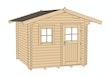 Weka 45 mm Gartenhaus 131 mit Vordach (60 cm) Sparset inkl. Dachschindeln