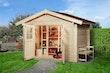 Weka Gartenhaus Premium45 mit Vordach (20 cm)