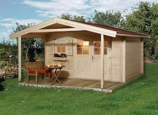 Weka 45 mm Gartenhaus 136 A mit Vordach (200 cm)