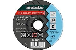 Metabo Flexiamant Super FKS 40125x4,0x22,23 InoxSchruppscheibegekröpfte Ausführung