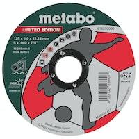Metabo Limited Edition Soccer 125 x 1,0 x 22,23 mmInoxTrennscheibegerade Ausführung