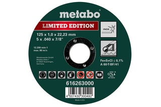 Metabo Limited Edition 125 x 1,0 x 22,23 mmInoxTrennscheibegerade Ausführung