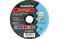 Metabo Novorapid 125 x 1,0 x 22,23 mmInoxTrennscheibegerade Ausführung