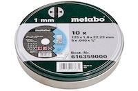 """Metabo Satz = 10x Trennscheiben """"SP"""" 125x1,0x22,23 Inox TF 41 in Blechdose"""
