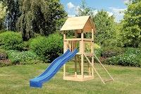 Akubi Kinderspielturm Lotti inkl. Netzrampe und Rutsche