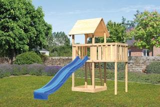 Akubi Kinderspielturm Lotti inkl. Anbauplattform und Rutsche