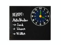 Akubi Kreidetafel mit Uhr