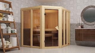 Karibu Sauna Einar mit Eckeinstieg 68 mm - Moin Aktion
