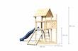 Akubi Kinderspielturm Lotti mit Satteldach inkl. Schiffsanbau oben, Rutsche und Netzrampe