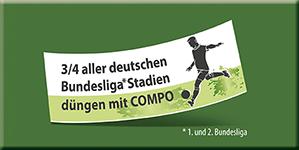 3/4 alles deutschen Bundesliga-Stadien düngen mit COMPO