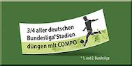 Dreiviertel aller deutschen Bundesliga Stadien düngen mit COMPO