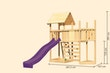 Akubi Kinderspielturm Lotti mit Satteldach inkl. Schiffsanbau oben, Rutsche, Kletterwand und Anbauplattform