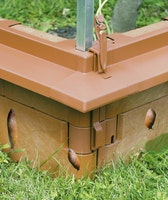 Juwel Schneckenkanten terracotta 10er Set