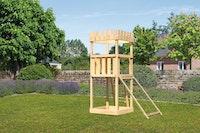 Akubi Kinderspielturm Ritterburg Löwenherz mit Netzrampe