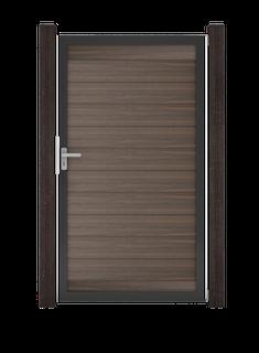 GroJa Solid Steckzaun Universal Einzeltor Sondermaß mit Anthrazitrahmen
