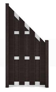 GroJa Fertigzaun Abgeschrägt rechts 84,3 x 180/90 x 3,2 cm