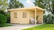 Weka Designhaus 213 A+ inkl. 150 cm Anbau und extra hoher Tür - 28 mm