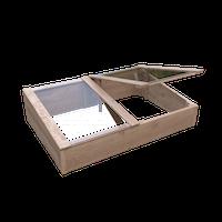 T&J TONDERN-Frühbeet Lärche 119 x 80 x 21/30 cm vorgefertigte Elemente