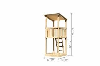 Akubi Kinderspielturm Anna mit Pultdach
