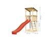 Akubi Kinderspielturm Anna mit Pultdach inkl. Wellenrutsche