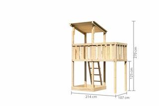 Akubi Kinderspielturm Anna mit Pultdach inkl. Anbauplattform