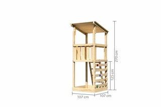 Akubi Kinderspielturm Anna mit Pultdach inkl. Kletterwand ECO
