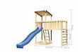Akubi Kinderspielturm Anna mit Pultdach inkl. Anbauplattform XL, Wellenrutsche und Kletterwand