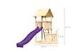 Akubi Kinderspielturm Lotti mit Satteldach inkl. Schiffsanbau unten und Rutsche