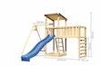 Akubi Kinderspielturm Anna mit Pultdach inkl. Einzelschaukel, Anbauplattform XL, Wellenrutsche und Kletterwand