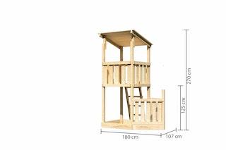 Akubi Kinderspielturm Anna mit Pultdach inkl. Schiffsanbau unten
