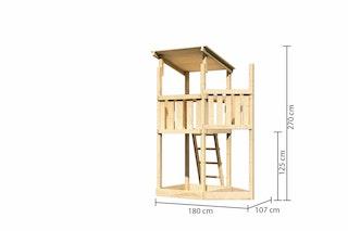 Akubi Kinderspielturm Anna mit Pultdach inkl. Schiffsanbau oben