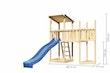 Akubi Kinderspielturm Anna mit Pultdach inkl. Schiffsanbau oben, Wellenrutsche und Anbauplattform