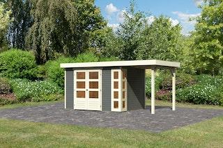 Karibu Woodfeeling Gartenhaus Kerko 3/4 mit 150 cm Schleppdach - 19 mm