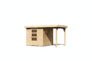 Karibu Woodfeeling Gartenhaus Oburg 2/3/4 mit 150 cm Schleppdach - 19 mm
