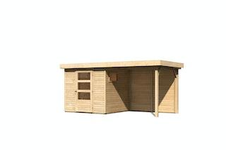 Karibu Woodfeeling Gartenhaus Oburg 2/3/4/6 mit 240 cm Schleppdach + Rückwand- 19 mm