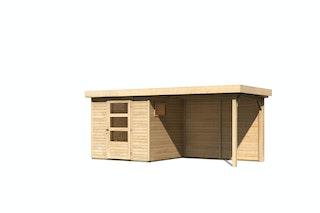 Karibu Woodfeeling Gartenhaus Oburg 2/3/4 mit 280 cm Schleppdach + Rückwand - 19 mm